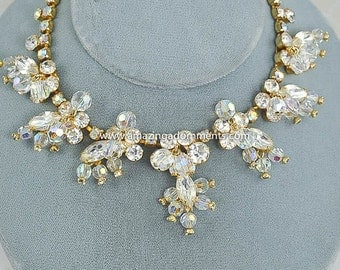 Vintage DELIZZA and ELSTER Juliana Clear Crystal and Rhinestone Necklace