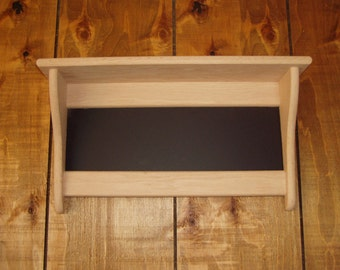 Wood Wall Shelf Oak Message Board Chalkboard Wall Shelf Display