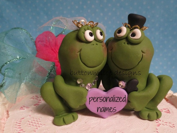 frog wedding cake toppers frog prince and his princess wedding cake topper 14499