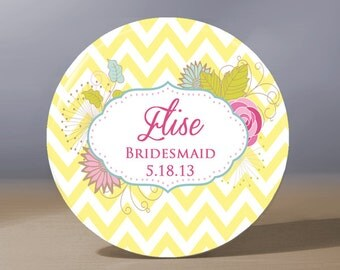 Bridesmaid Gift | Personalized Pocket Mirror | Mother of the Bride Gift | Maid of Honor Gift | Mother of Groom Gift | Bridal Shower Favors