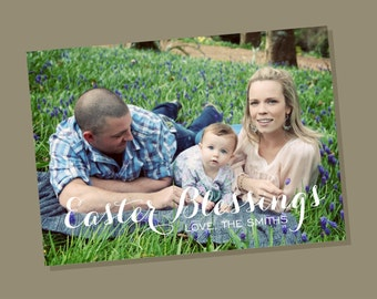 Easter Blessing - Easter photo card
