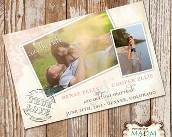 DIY Printable Save the Date Photo Invitation, Vintage Lace Save the Date Invitation.....by Maxim Creative Invites