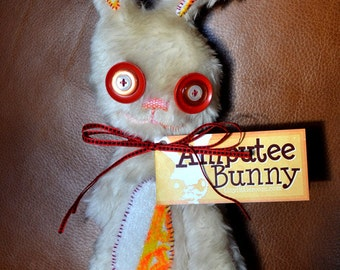 Amputee Bunny, Red & Tan