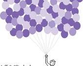 Wedding Guest Book Balloons for up to 100 Guests