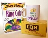 New Orleans Mardi Gras Coffee Mug Gift Box