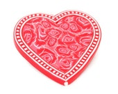 Heart Brooch - Red Pin - Brooches for Women - Jewelry Pin - Large Brooch - Polymer Clay Jewelry for Women - Valentine Gift Ideas for Her