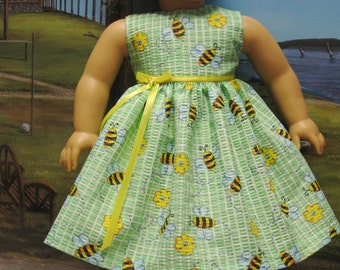 Bumblebee Sundress for American Girl Doll