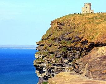 The Cliffs - Cliffs of Moher O'Brien's Tower Ireland County Clare Doolin Europe Travel Photography Blue Green Aran Islands - 8x10 Photograph