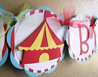 Circus Party Banner, Carnival Party Banner, Circus Happy Birthday Banner, Circus 1st Birthday Banner, Carnival Birthday Banner, Circus Party