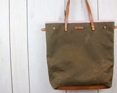Reserved for zapkapow - Custom waxed canvas tote in olive
