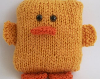 Stockinette Stitch Duck PDF Knitting Pattern