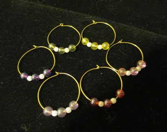 Wine Charms Gold 3