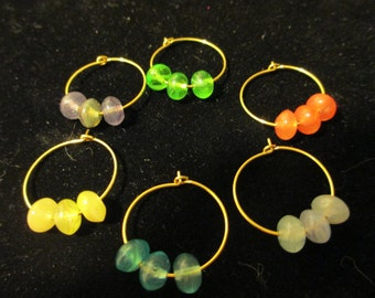 Wine Charms Gold 10