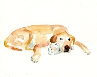 CUSTOM PET PORTRAIT(big size!)  Original watercolor painting 16x20inch