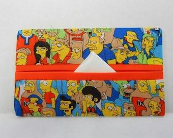 Where's Bart Tissue Cozy/Gift Card Holder (orange lining)/Party Favor/Wedding Favor