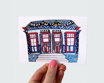 Home of the Saints Shotgun Print Greeting Card