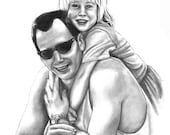 Family Hand Drawn Pencil Portrait - 11x14 Custom listing for Carolina Disla