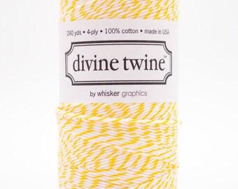 Full Spool - 240 Yards - Lemon - Yellow - Baker's Twine