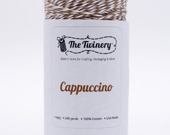 Full Spool - 240 Yards - Cappuccino Brown Baker's Twine