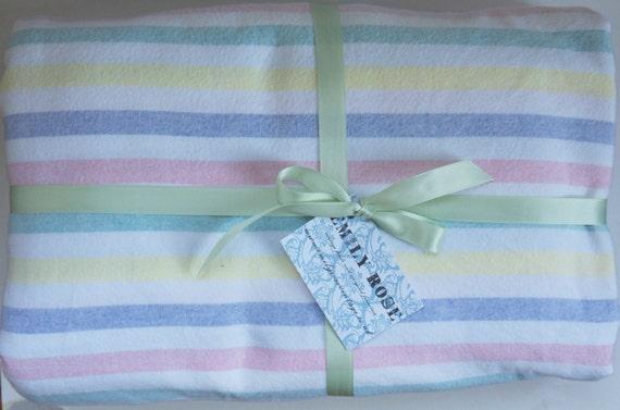 Vintage Bedding Candy Stripe Pastel Palete Brushed By