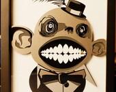 3D Dapper monster Portrait with frame