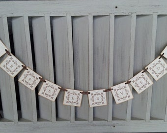 SALE Mini Banner Sand Dollar Party Decoration Wedding Event Bunting Garland Reserved Chair Sign