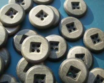 BLACK TAN GRAY 50 buttons Tiger Button Co Inc 7-8 inch diameter