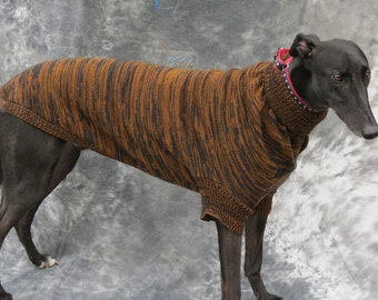 Greyhound Sweater, Large, Brown/black brindle