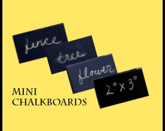 Custom size  set of 200 Chalkboards placecard minis perfect for weddings, events, craft fair, store signage, home orgainization