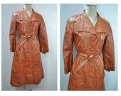 vintage leather trench coat vintage leather coat womens coat