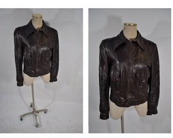 1970s vintage leather jacket womens vintage clothing