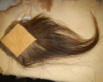 Musk Ox Hide Piece- 6 inches by 6 inches- EXTREME Hair