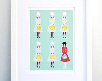 I was different : Art Print / Fashion illustration