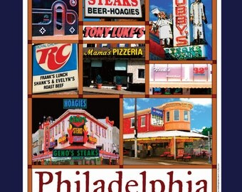 Philly Cheesesteaks Collage