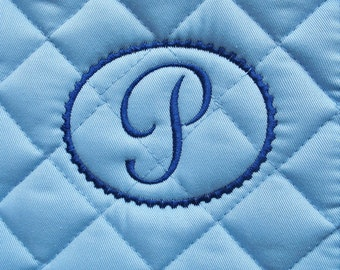 English All Purpose Saddle Pad with Embroidered Initial In Frame