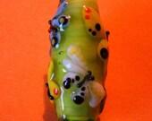 Butterflies, Many Butterflies--Lampwork focal bead--Signed