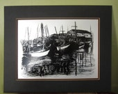 Vintage Bayshore Signed Metal Lithograph Norm Altman Sailboats Nautical Coastal