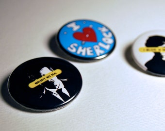 Sherlock Button Set