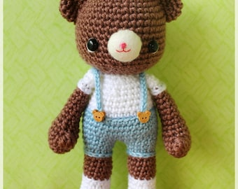 PDF Crochet Pattern - Mocha (only boy bear)