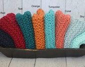 4 Knit Baby Blankets - Newborn Photo Props - You Pick Colors