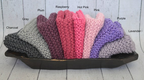 Knit Baby Mini Blankets- Many Colors Available