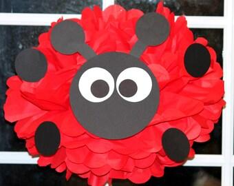 Ladybug Love Bug pom pom kit baby shower first birthday party decoration