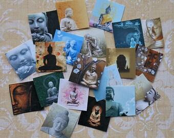 20 Small or 12 Large Colorful Printed Buddha STICKERS- Buddha Asian art Yoga Buddhism Buddhist religion Zen Buddhism Tibetan Buddhism Buddha