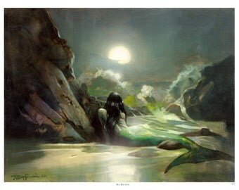Mike Hoffman Ocean Mermaid Art Painting Print SEA REVERIE