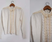 V I  N T A G E Sparkle Vanilla  sweater. Fifties. Japanese.