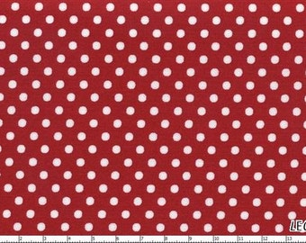 CLEARANCE, Japanese, Lecien Color Basics, White Polka Dots on Red, 4505-R, 1/2 yard