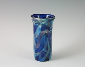 Glass Bud Vase - Handblown Glass Shot Glass - Lampwork Boro Shot Glass Vase