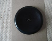 Vintage Large Black Button