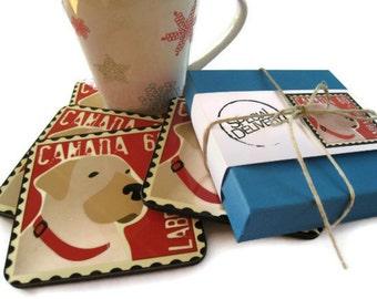 Labrador Retriever Art Dog Coasters  Home Decor Hostess Gift