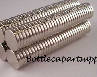 "25 pcs 3/8""x 1/16""  NEODYMIUM Disc Rare Earth Magnets For Bottle Caps and Crafts"